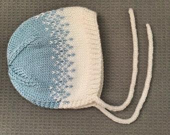 Blue Ombre Bonnet: 6 Months