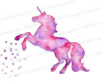 Unicorn Print Pinks Purples Zentangle