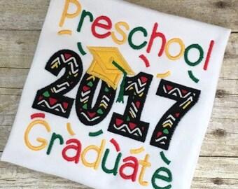 Preschool Graduate Embroidery  Design - Preschool Graduate Applique Design - Graduate Applique - Graduate Embroidery - Applique Design