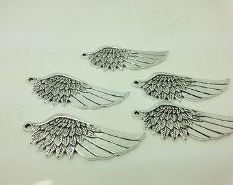 10 pcs Angel Wing Pendant ,Angel Wing Charms, Wholesale Charms , Wing Charms