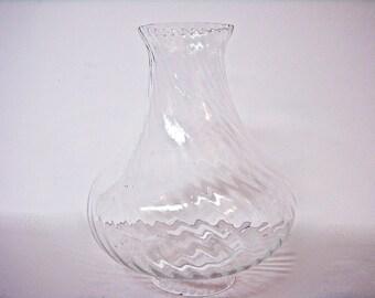 Optic Swirl GLASS LAMP SHADE