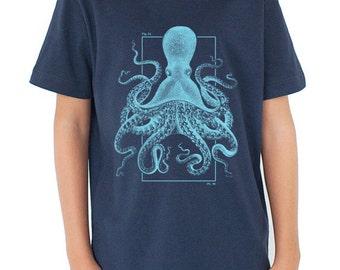 Octopus Youth T-Shirt | Marine Biology, Kraken, Cephalopod Science shirt, science tee shirt, ocean, sea life, science tee, STEM