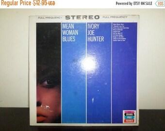 Save 30% Today Vintage 1962 Vinyl LP Blues Record Mean Woman Blues Ivory Joe Hunter Very Good Plus Condition 7821