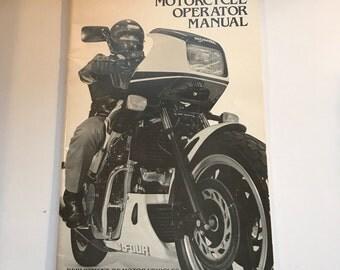 Vintage Automotive 1985 VA Motorcycle Operator Manual