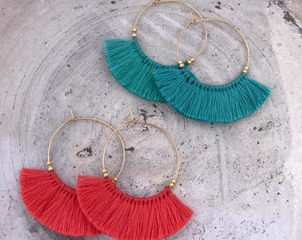 Boho earrings fringe earrings tassel earrings bohemian trival