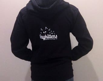 XL - Black - Official TinyKittens Hoodie (Unisex) - 100% of proceeds support rescue efforts!