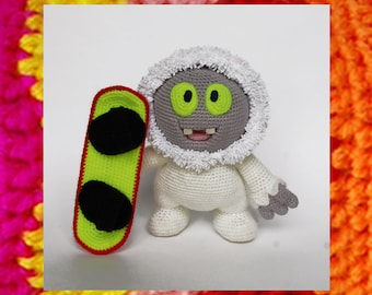 Amigurumi Pattern. Crochet Yeti Moonik. Crochet Bigfoot. DIY.