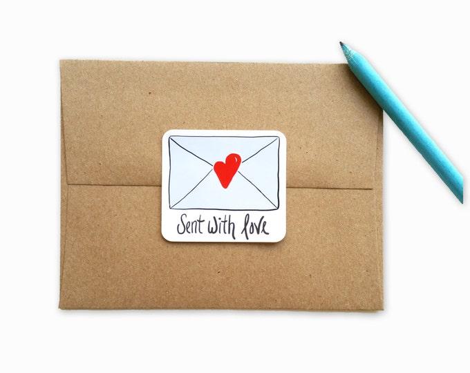 Sent with Love Sticker Set