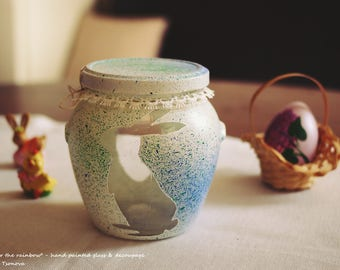 Hand-painted Easter Candy Jar