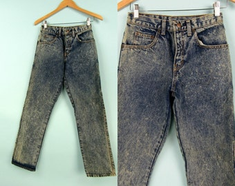80s Acid Wash Jeans, Vintage GAP, High Waisted Jeans, Boyfriend, Size Extra Small, Size 25, Mom Jeans, Straight Leg, Relaxed  Fit,