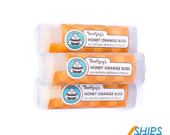 Honey Orange Beeswax Lip Balm (3 Pack)