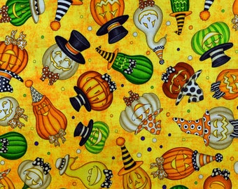 Pumpkin Fabric Halloween Fabric Creepy Hollow Orange From Quilting Treasures 100% Cotton