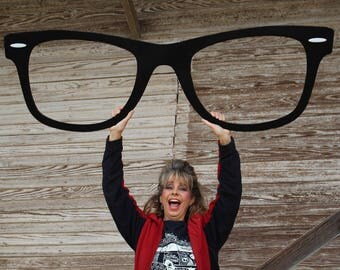 Giant Wayfarer Eyeglasses Big Wayfarer Sunglasses Big Black Eyeglasses Optometrist Office Eye Doctor Wall Decor Optical Shop Art Glasses