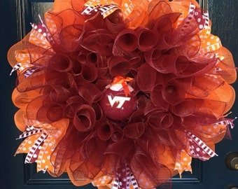 Hokies! Mesh Wreath
