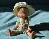 Small HOLLY HOBBIE DOLL Vintage Collectible Doll 1970s Holly Hobbie