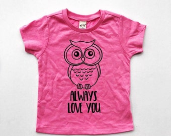 Owl Always Love You Valentine's Day tee for infants, toddlers, children