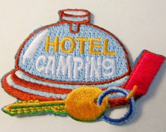 "Girl Scout Fun Patch ""Hotel Camping"""