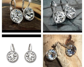 BIG  SALE! Bella like genuine Swarovski Crystal earrings