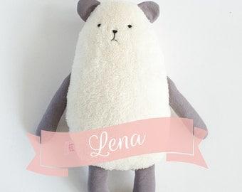 Teddybear  Lena, ecru softie, plushie