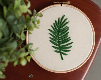 Embroidery hoop art, exotic floral,Wall hanging,