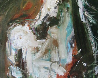 Expressive Horse Painting, Affordable Horse Artwork