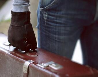 Fur Gloves, Black Mens Gloves, Leather Gloves Men, Warm Gloves, Gloves for Men, Winter Gloves, Shearling Fur Gloves, Brown Leather Gloves
