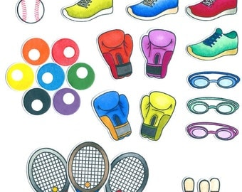 Ultimate Sports Pack stamp basketball baseball soccer rugby AFL bowling swimming netball volleyball softball tennis