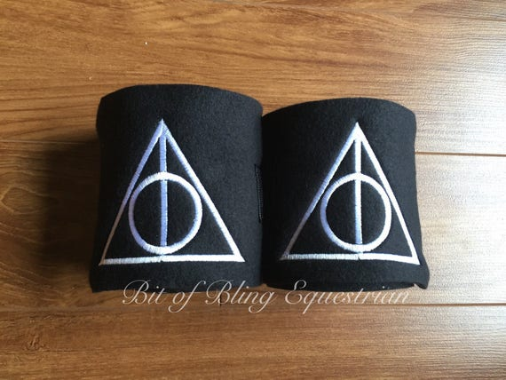 2 Deathly Hallows Embroidered Polo Wraps