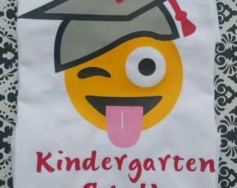 Boy's Emoji Grad Shirt / Pre-K Graduation Emoji Shirt / Kindergarten Graduate Emoji Shirt / Elementary School Graduation Shirt
