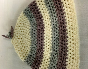 Beautiful and Cozy crocheted adult hat