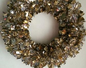 Gold Silver Garland Wreath