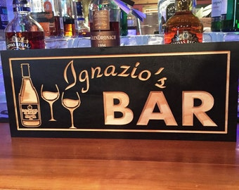 Personalized Bar Signs, MAN CAVE Signs, Wine bottle theme, GROOMSMAN Gifts, Fathers Day Gift, Established Signs, Benchmark Signs Gifts