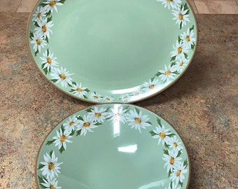 Taylor Smith & Taylor Lazy Daisy Oval Serving Platter and Serving Bowl