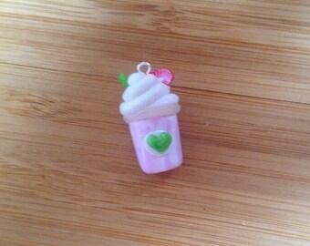 Strawberry Frapp - Stitch Marker or Progress Keeper Charm