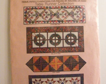 McCall's Uncut Sewing Pattern Quilt Big Blocks Table Runner 518