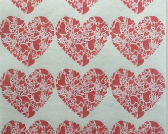 Hearts of Hearts Edible Wafer Paper