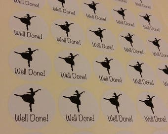 Well done stickers - Ballet - Dance