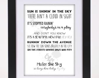 Mr. Blue Sky Lyrics