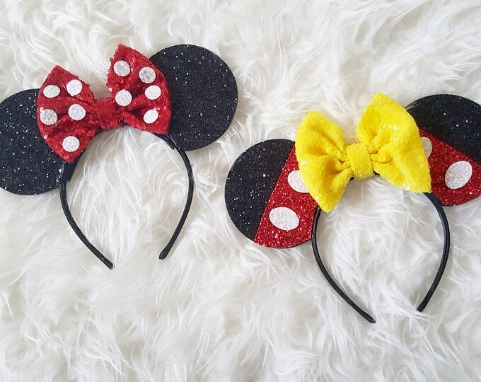 Minnie and Mickey Mouse Ears Headband | Mickey | Minnie Mouse Ears Headband Minnie Ears | Mouse Ears |