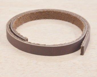 "Dark Brown OIL TAN Leather Strap 1/4"" x 12"" Strip 4-6 oz Hide MI-52687 (Sec. 7, 1)"