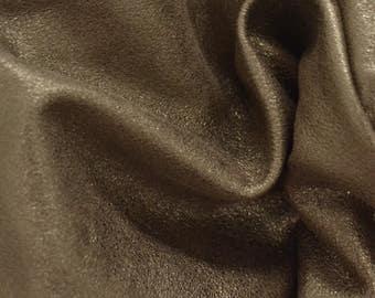 "Shaded Gold Lambskin Leather Hide 12"" x 12"" Project Piece 1 1/2 ounces TA-53270 (Sec 6,Shelf 6,A)"