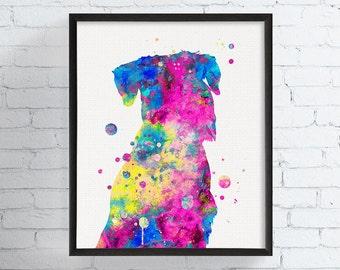 Schnauzer Art Print, Schnauzer Portrait, Schnauzer Watercolor Painting, Schnauzer Wall Decor, Schnauzer Gifts, Dog Portrait, Dog Art Print