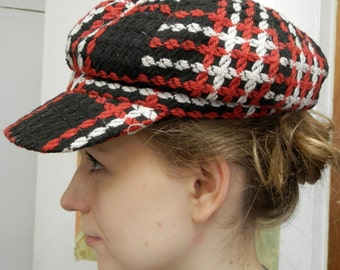 Reproduction 'swinging London' style cap of the 1960s