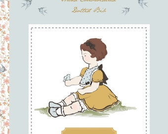 Bib Sewing PDF - The Hand Embroidered Dotted Bib Pattern and booklet