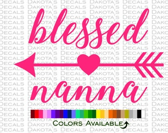 Blessed Nanna Decal