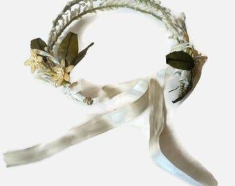 Vintage 1920s Wax Orange Blossom Wedding Headband Tiara