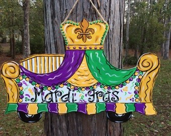 Mardi Gras, Float, New OrleansDoor Hanger