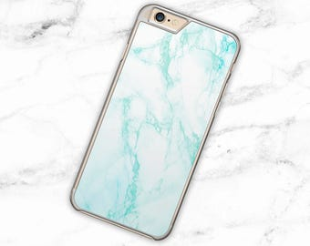 Aqua Marble Blue Hard Case Cover for iPhone 4, 4S, 5, 5S, 5SE, 5C, 6, 6Plus, Samsung Galaxy S3, S4, S5, S6, S6 Edge