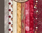 ON SALE Digital Scrapbooking, Paper Pack Extra, Valentine's Day: Always Yours