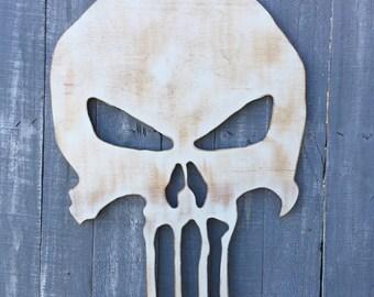 White washed skull